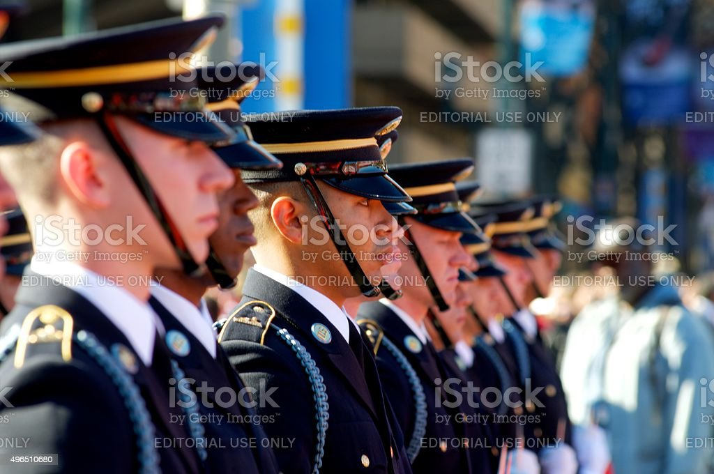 U.S. Veteran's Day Parade, Philadelphia, PA stock photo