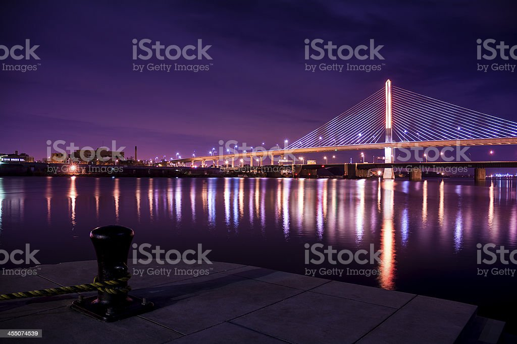 Veterans Glass City Skyway Bridge stock photo