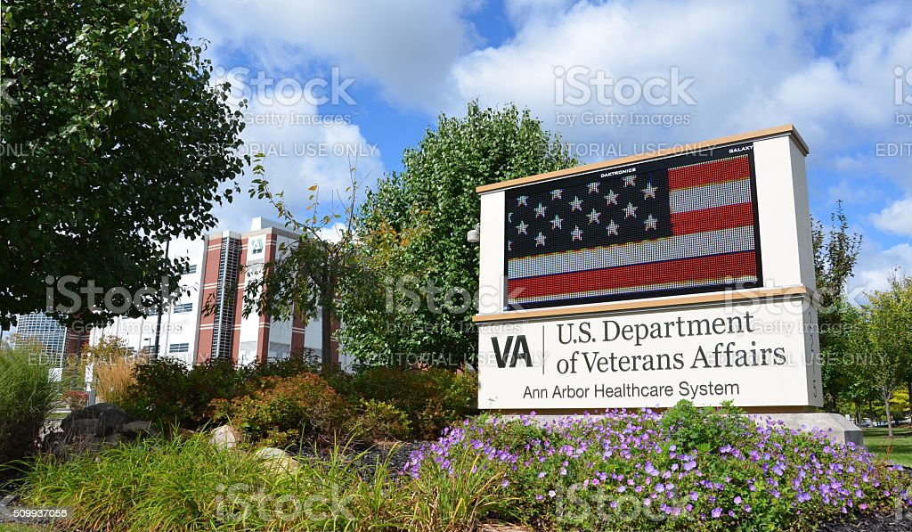 Veteran's hospital, Ann Arbor, MI stock photo