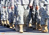 Veterans marching