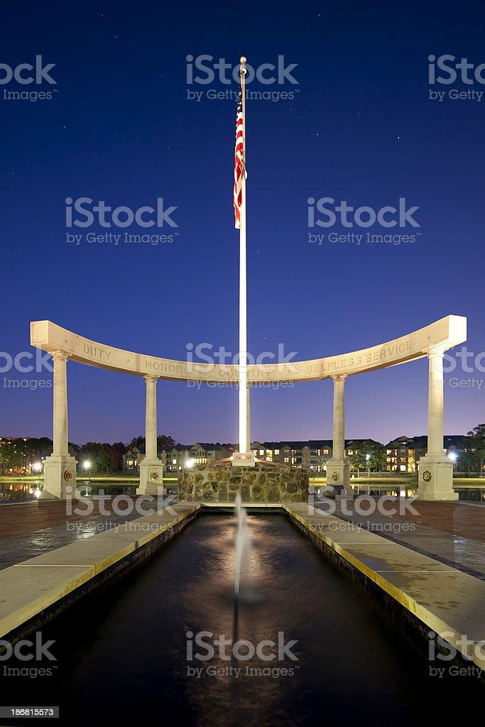 Veterans Memorial royalty-free stock photo