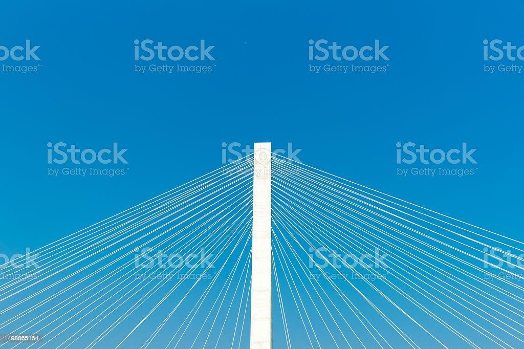 Veterans Memorial stay bridge across the Mississippi River in St stock photo