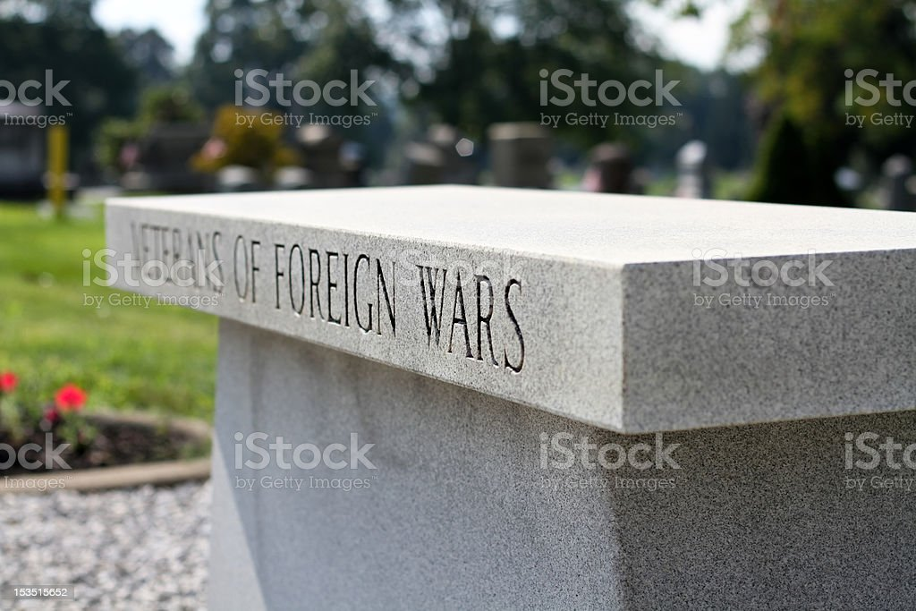 Veterans of Foreign Wars Bench stock photo