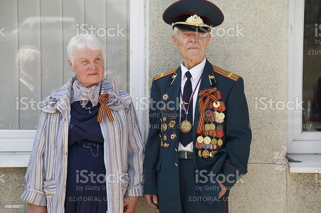 veterans of the World War II royalty-free stock photo
