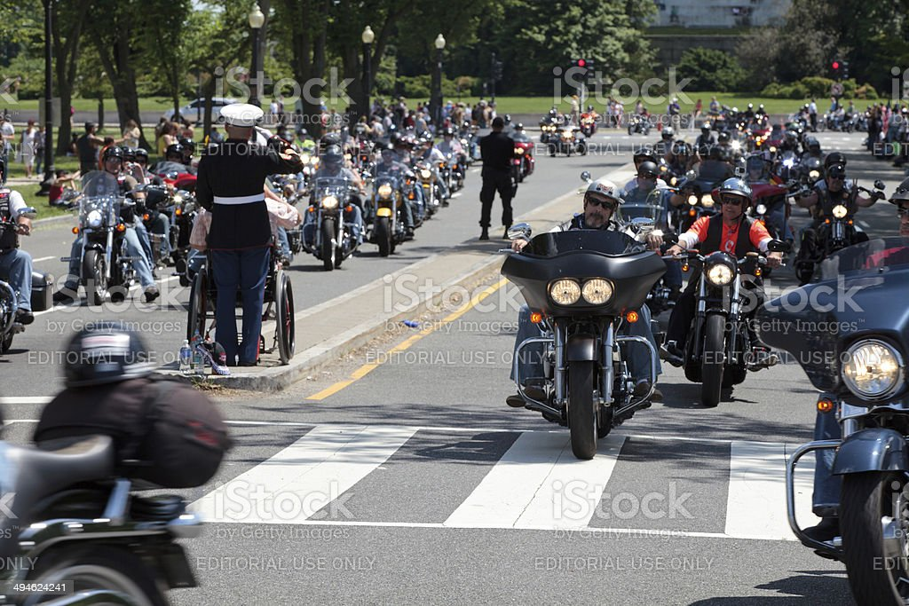 Veterans ride stock photo