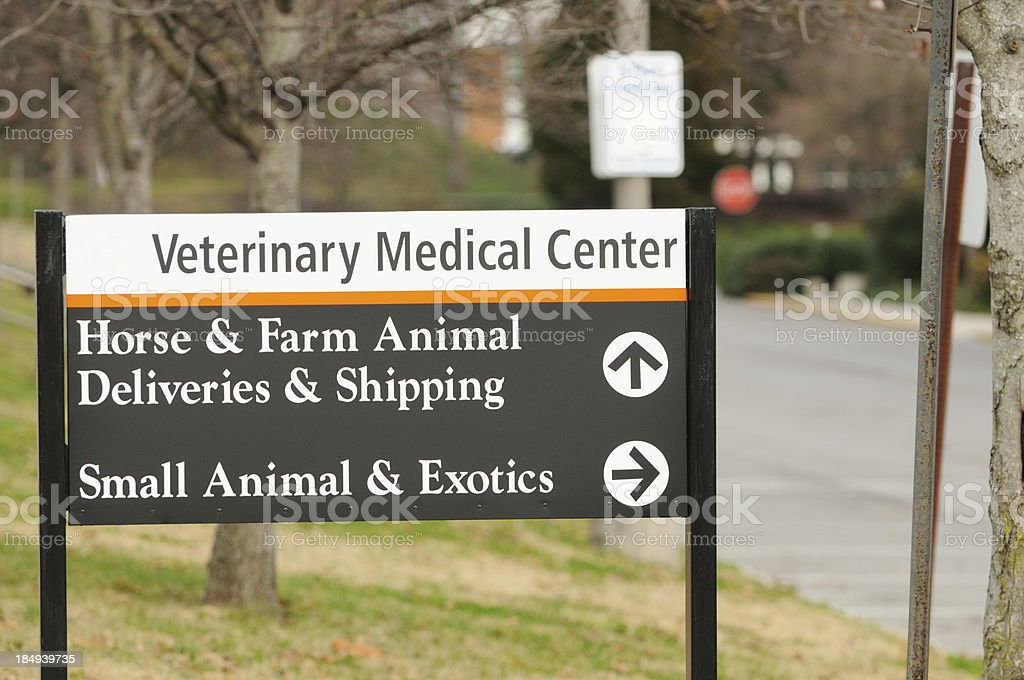Veterinary Medical Center sign stock photo