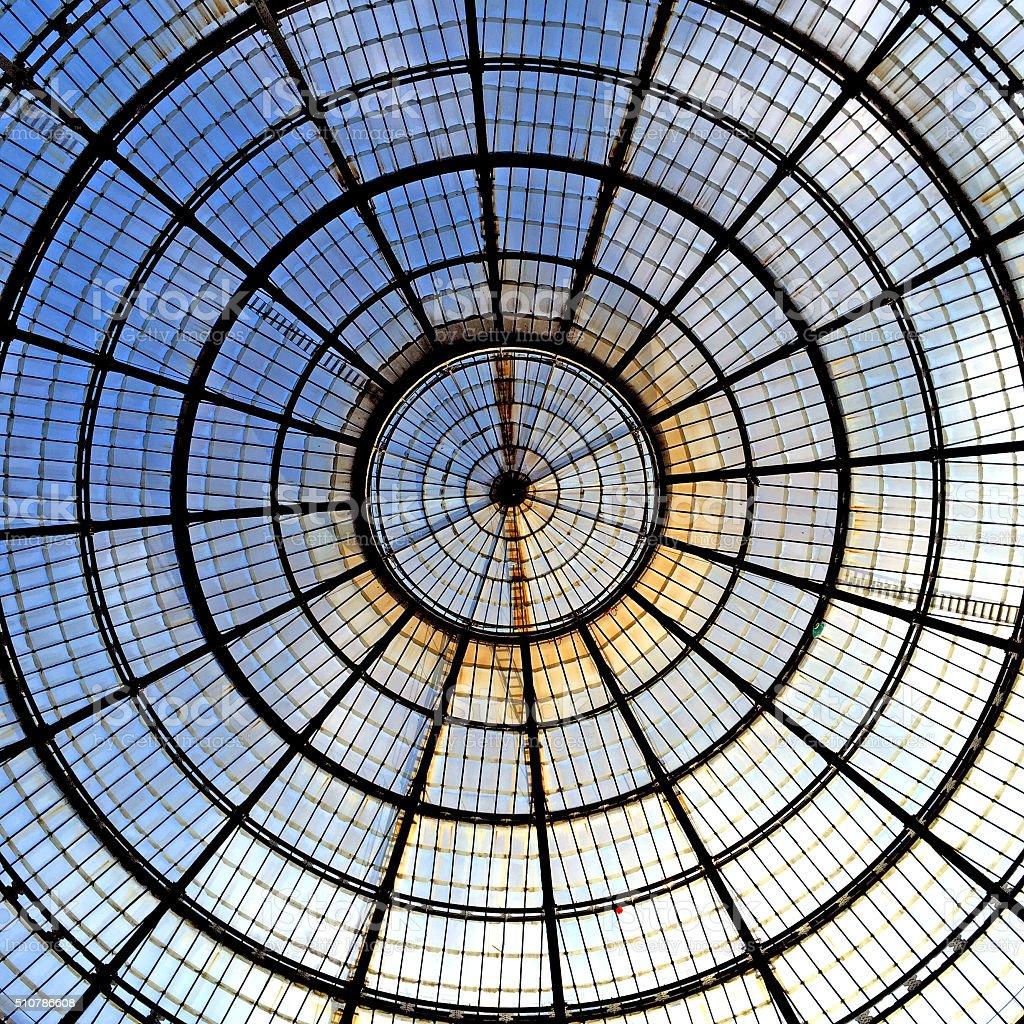 Vetrata Galleria Vittorio Emanuele II Milano stock photo