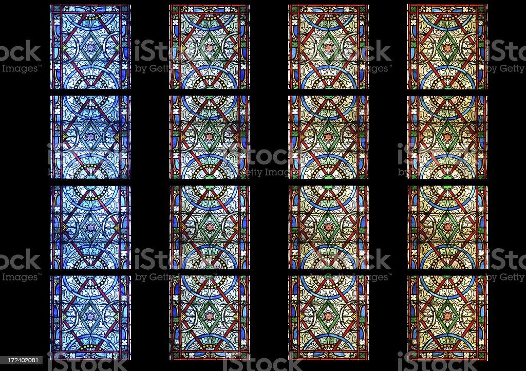 Vetro di chiesa colorato royalty-free stock photo