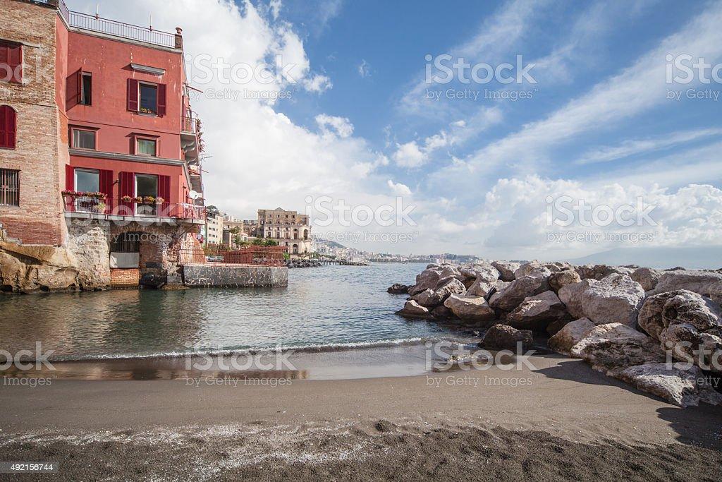 Vew of Naples, Italy stock photo