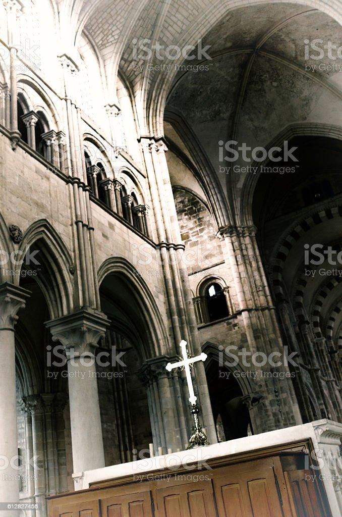 Vezelay Abbey, Burgundy, France stock photo