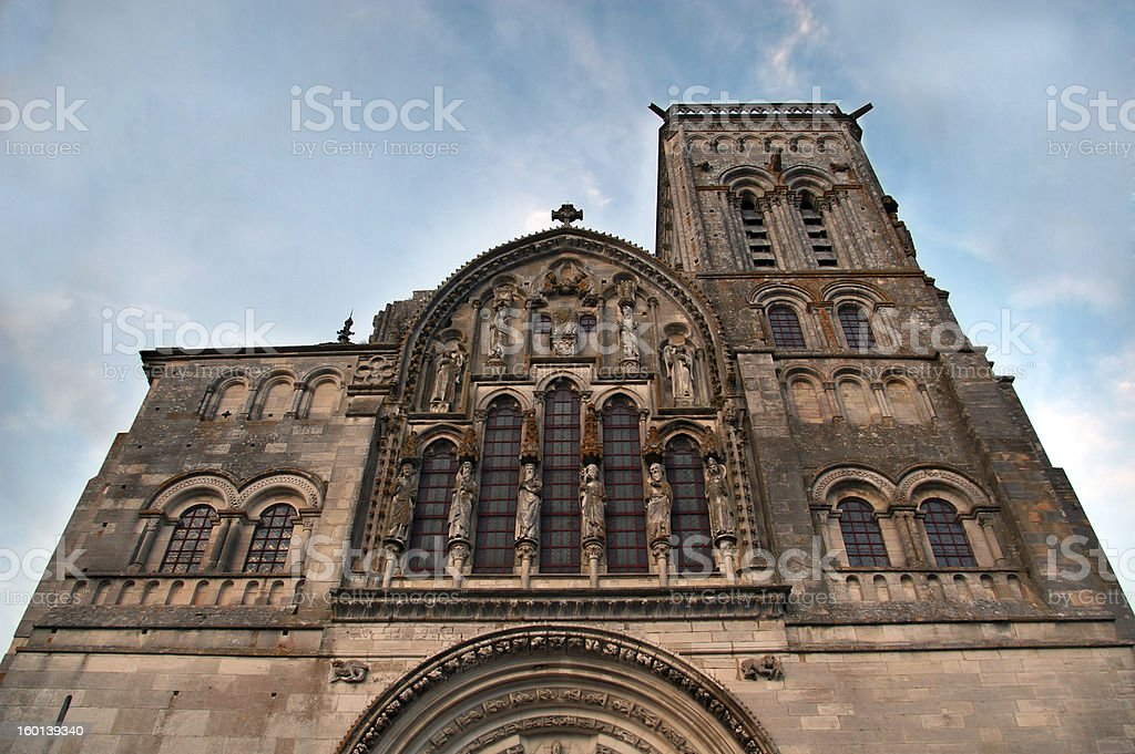 Vezelay cathedral from Burgundy France royalty-free stock photo