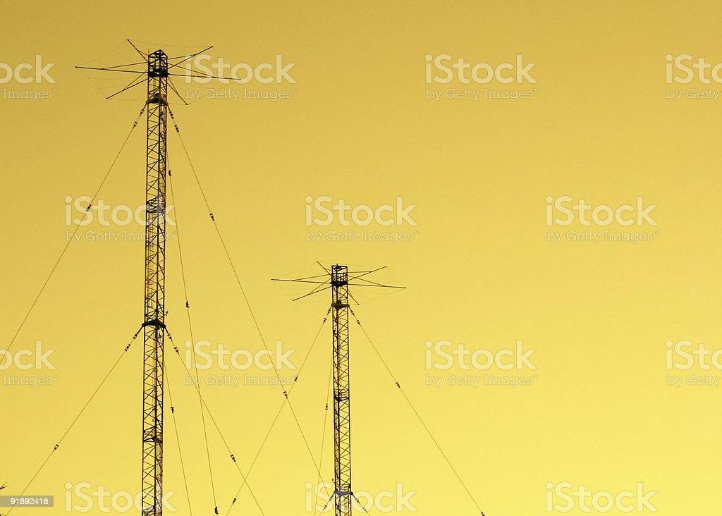 vhf antenna stock photo