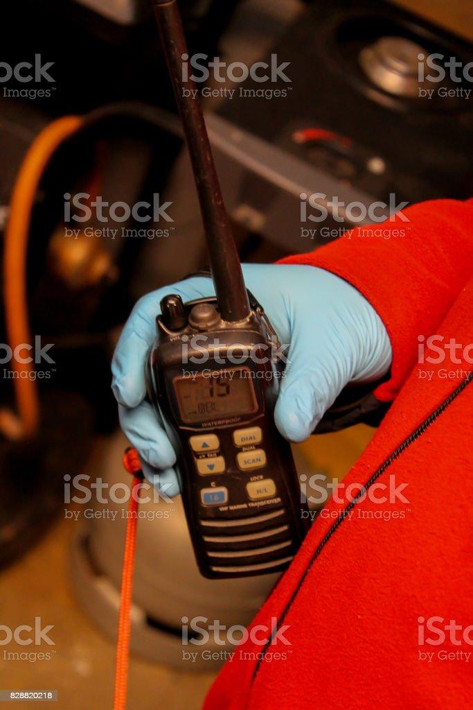 VHF-radio stock photo