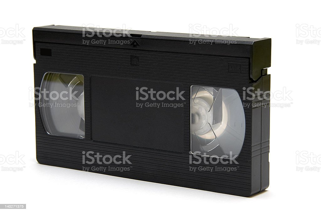 VHS-Tape perspective royalty-free stock photo