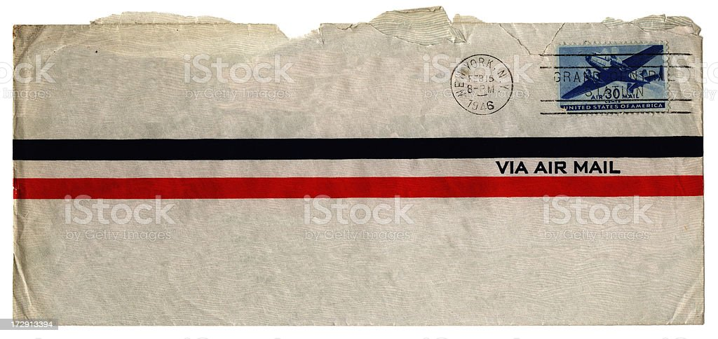 Via air mail from USA stock photo