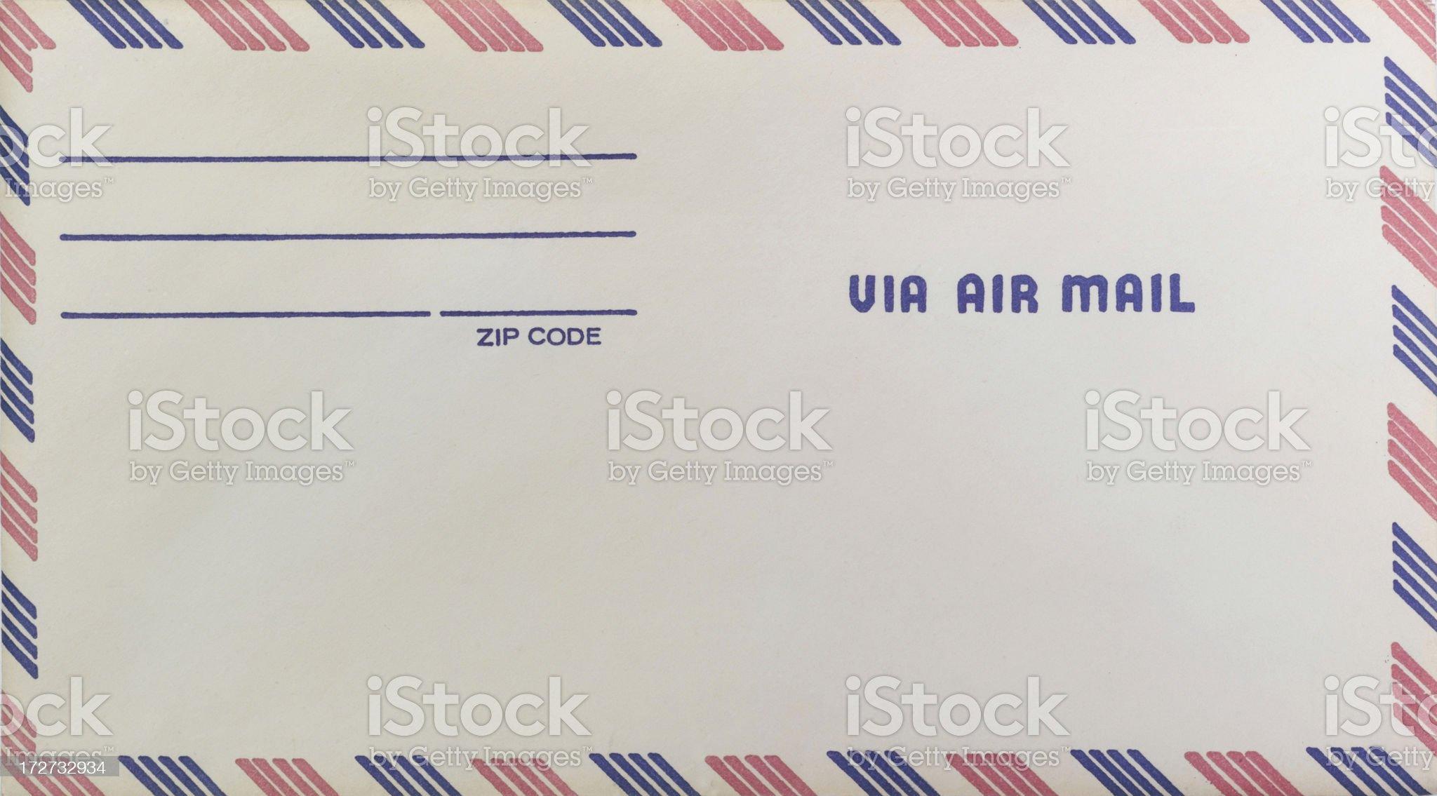 Via Air Mail royalty-free stock photo
