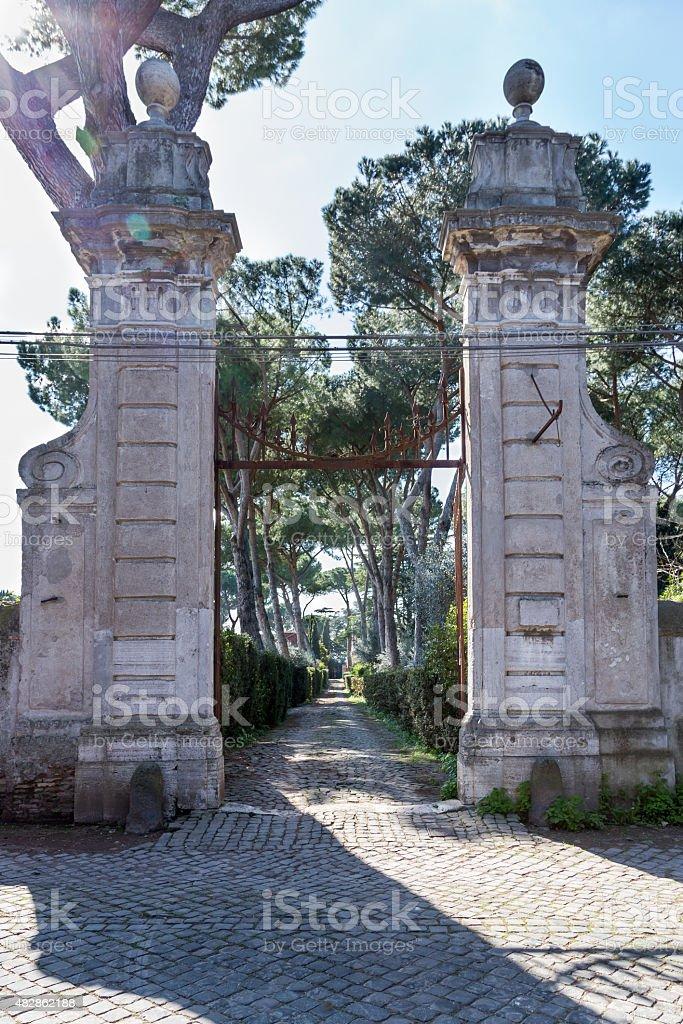 Via Appia Gate stock photo