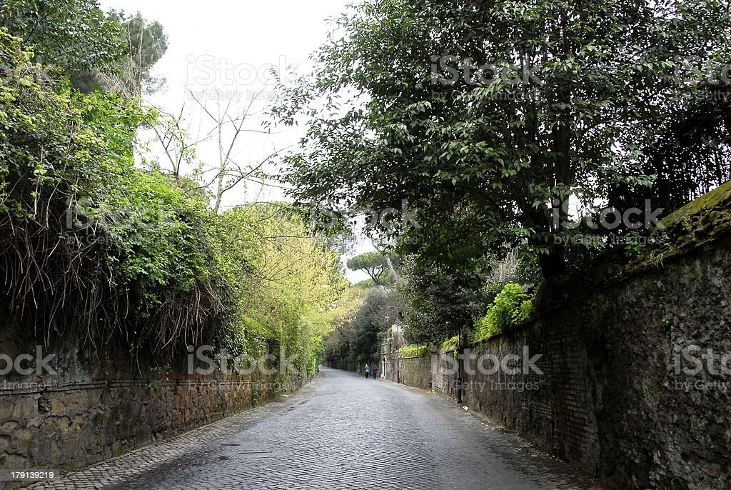 Via Appia,Italy royalty-free stock photo
