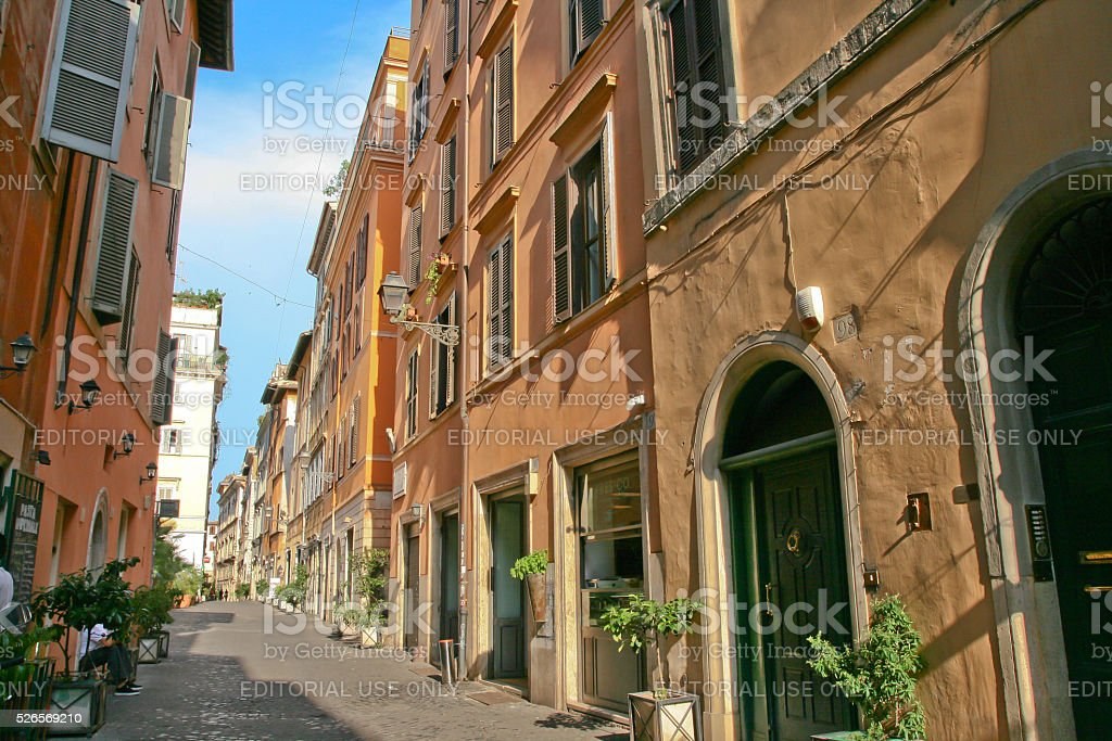 Via dei Coronari Rome Italy stock photo
