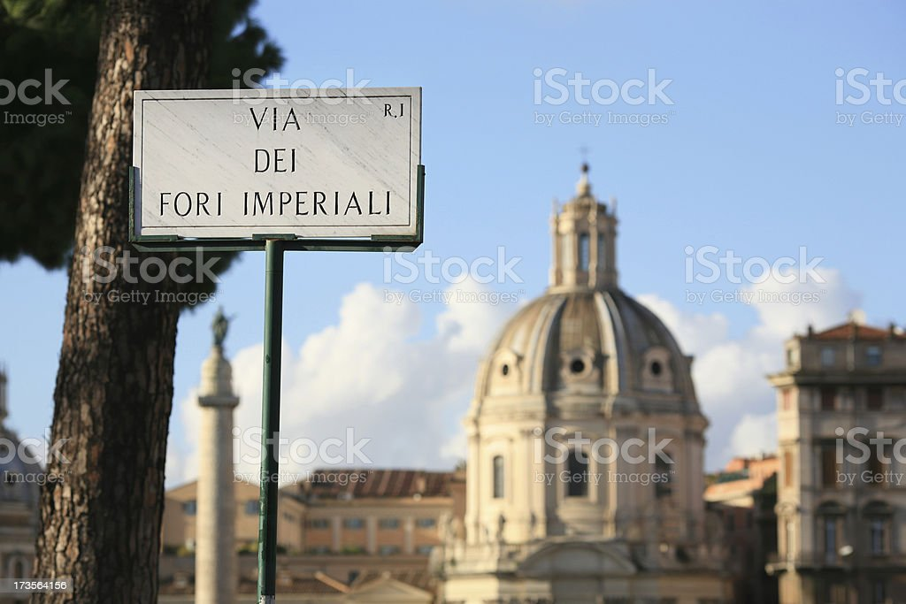 Via dei Fori Imperiali in Rome stock photo