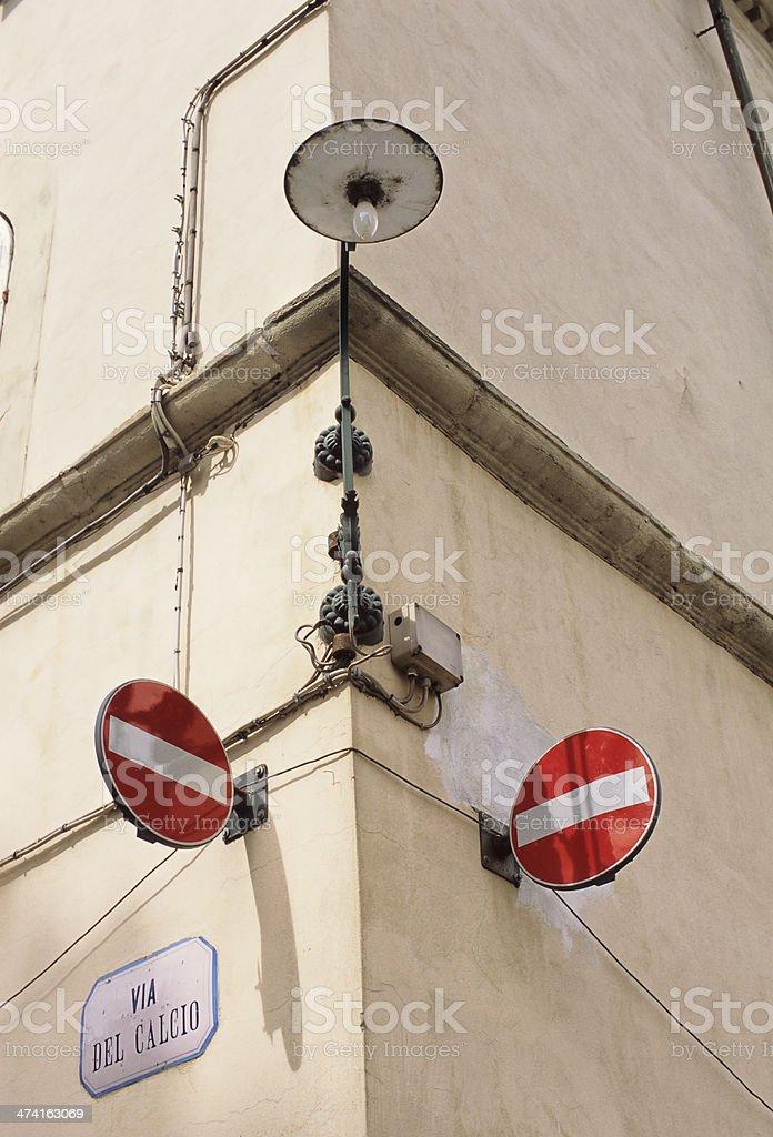 Via del Calcio - Football street royalty-free stock photo