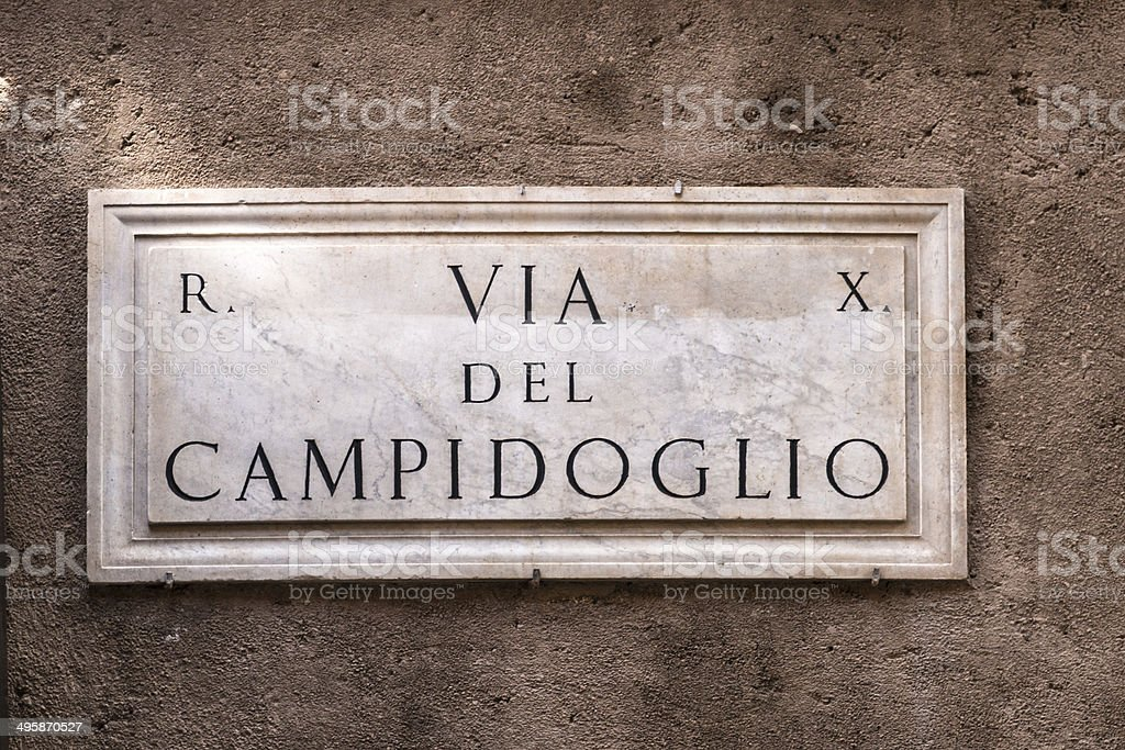 Via del Campidoglio royalty-free stock photo