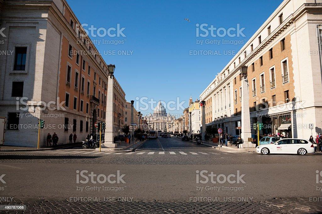 Via della Conciliazione, Rome, Italy stock photo