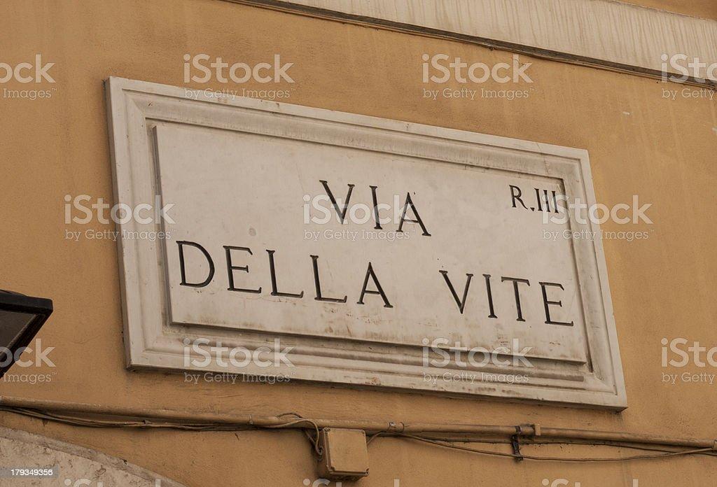 Via Della Vite royalty-free stock photo