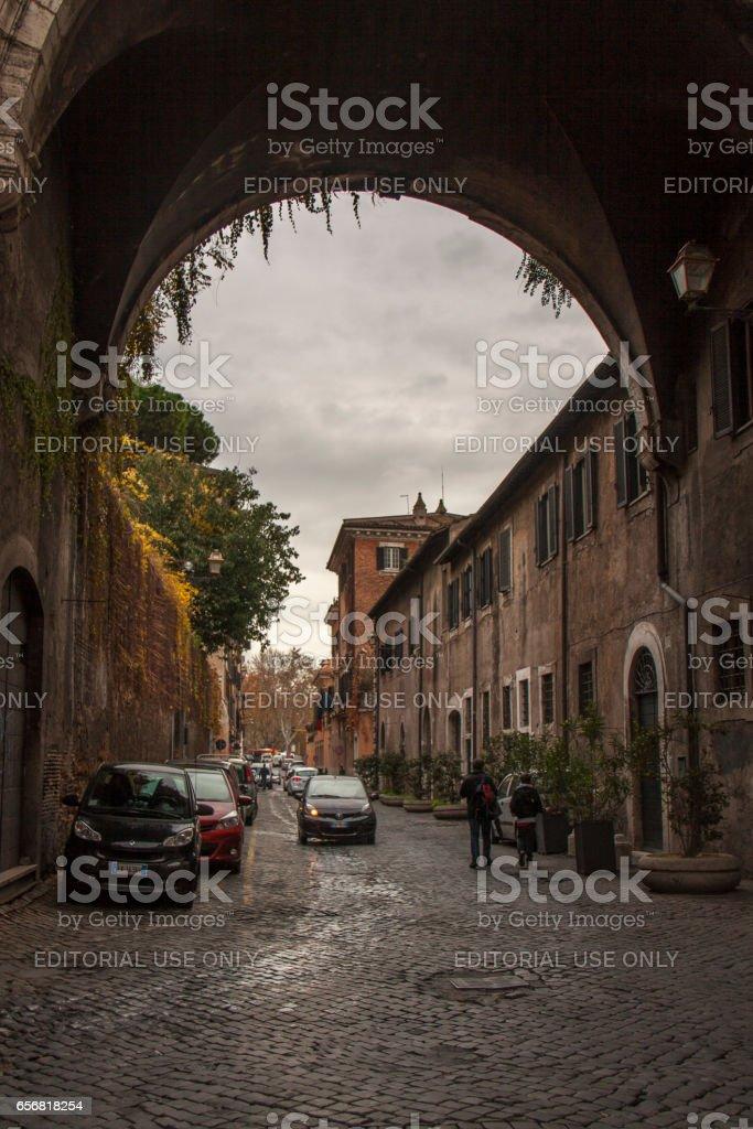 Via Giulia in Rome, Italy stock photo