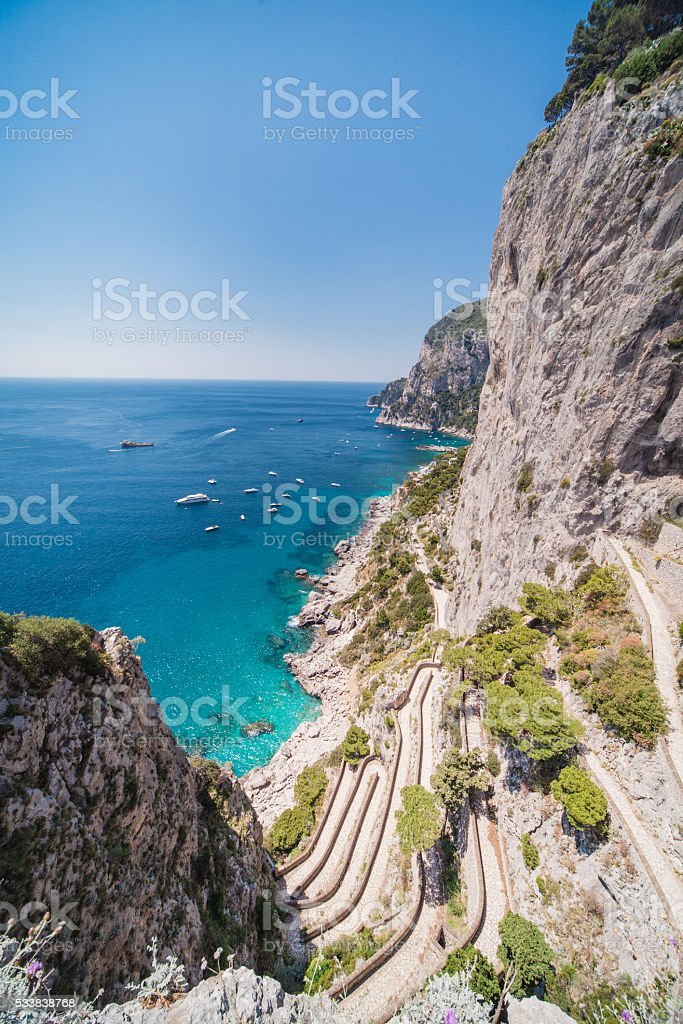 Via Krupp - Capri stock photo