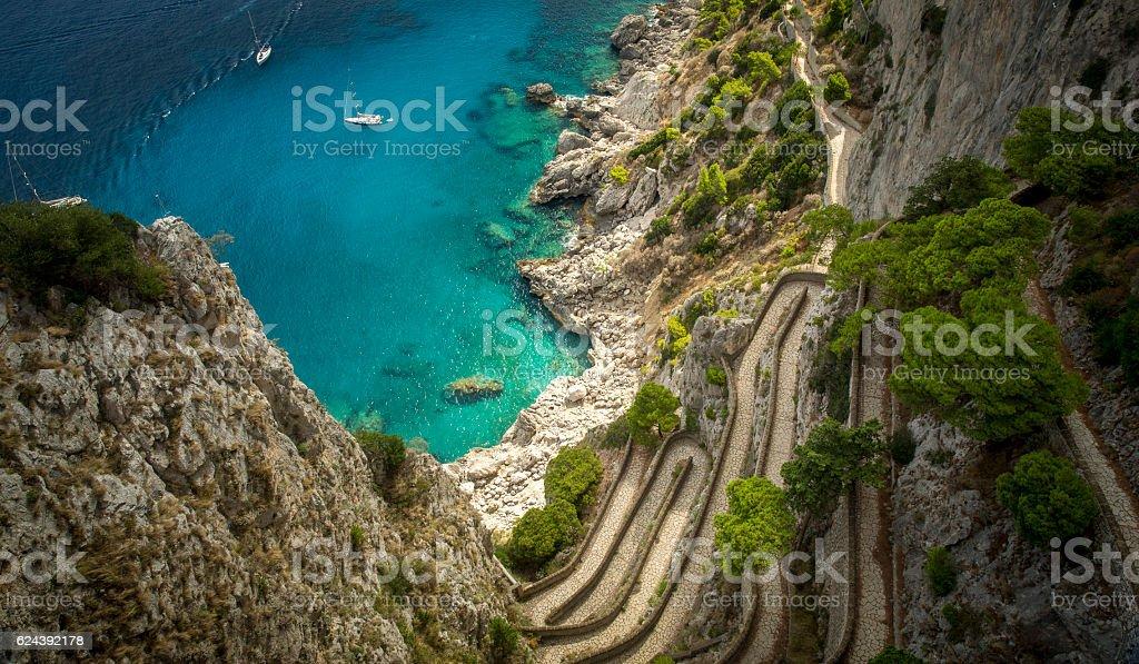 Via Krupp on Capri island, Italy stock photo