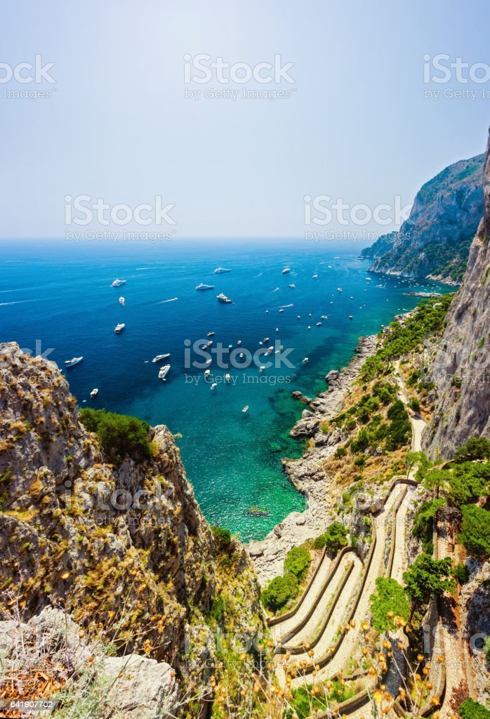 Via Krupp on Capri island stock photo