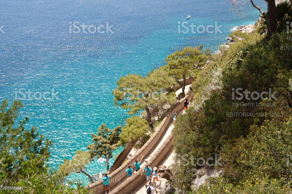 Via Krupp with Tourists stock photo