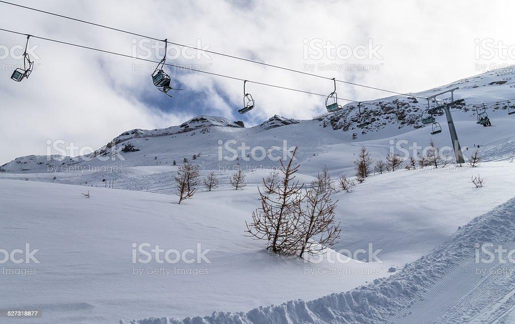Via Lattea ski resort stock photo