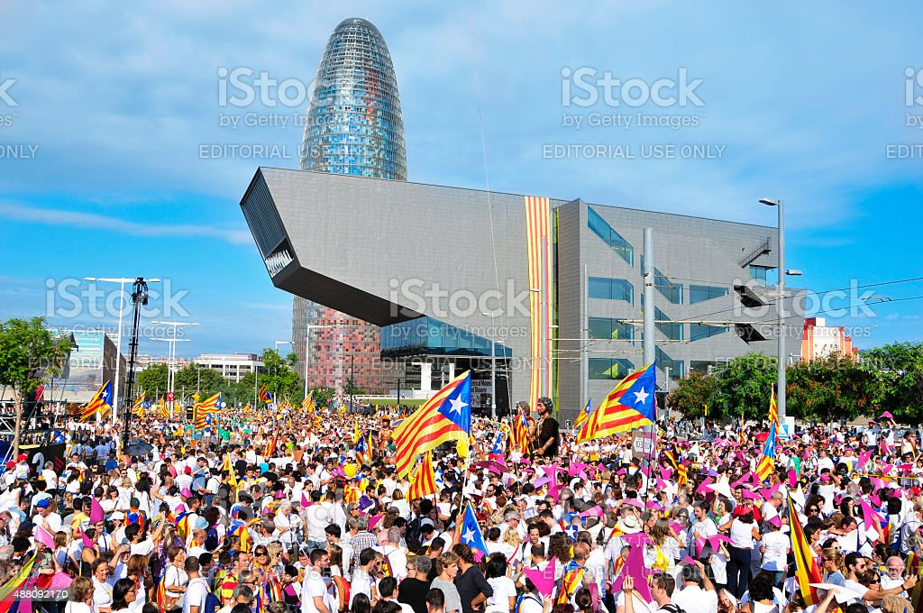 Via Lliure in support for the independence of Catalonia stock photo