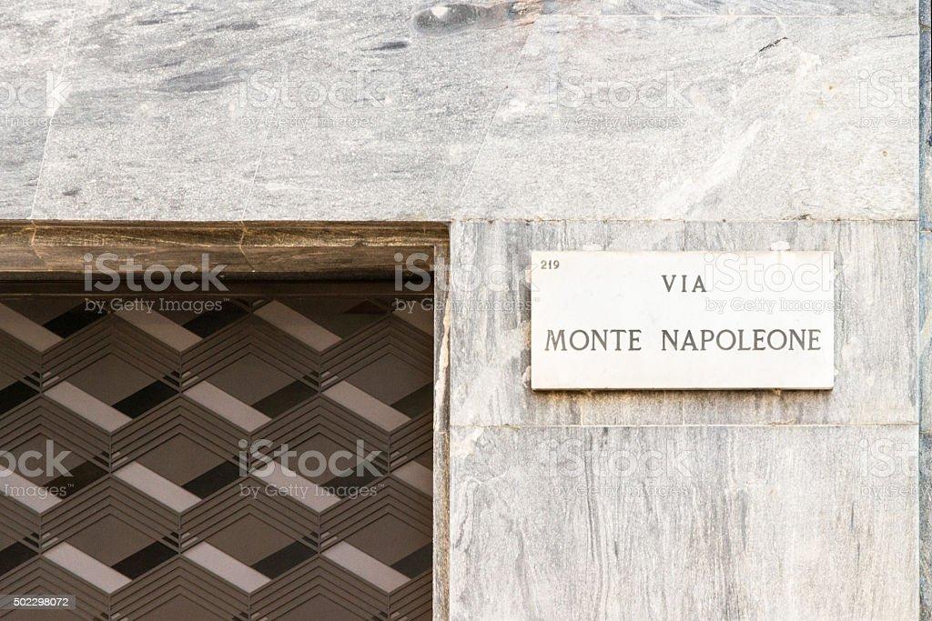 Via Monte Napoleone stock photo