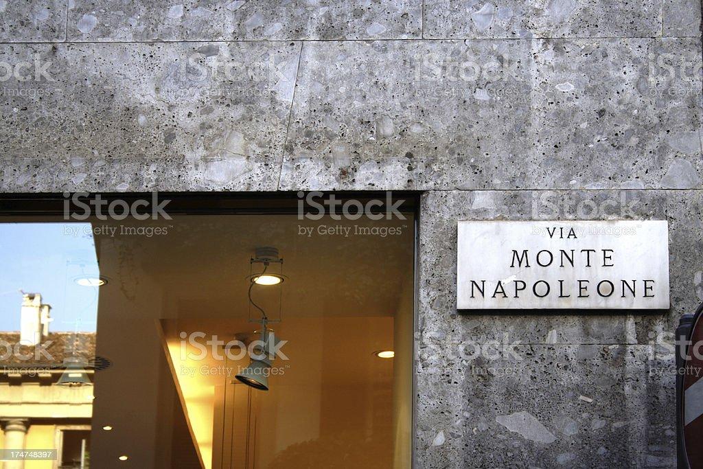 Via Montenapoleone royalty-free stock photo