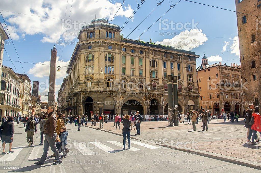 via rizzoli Bologna stock photo