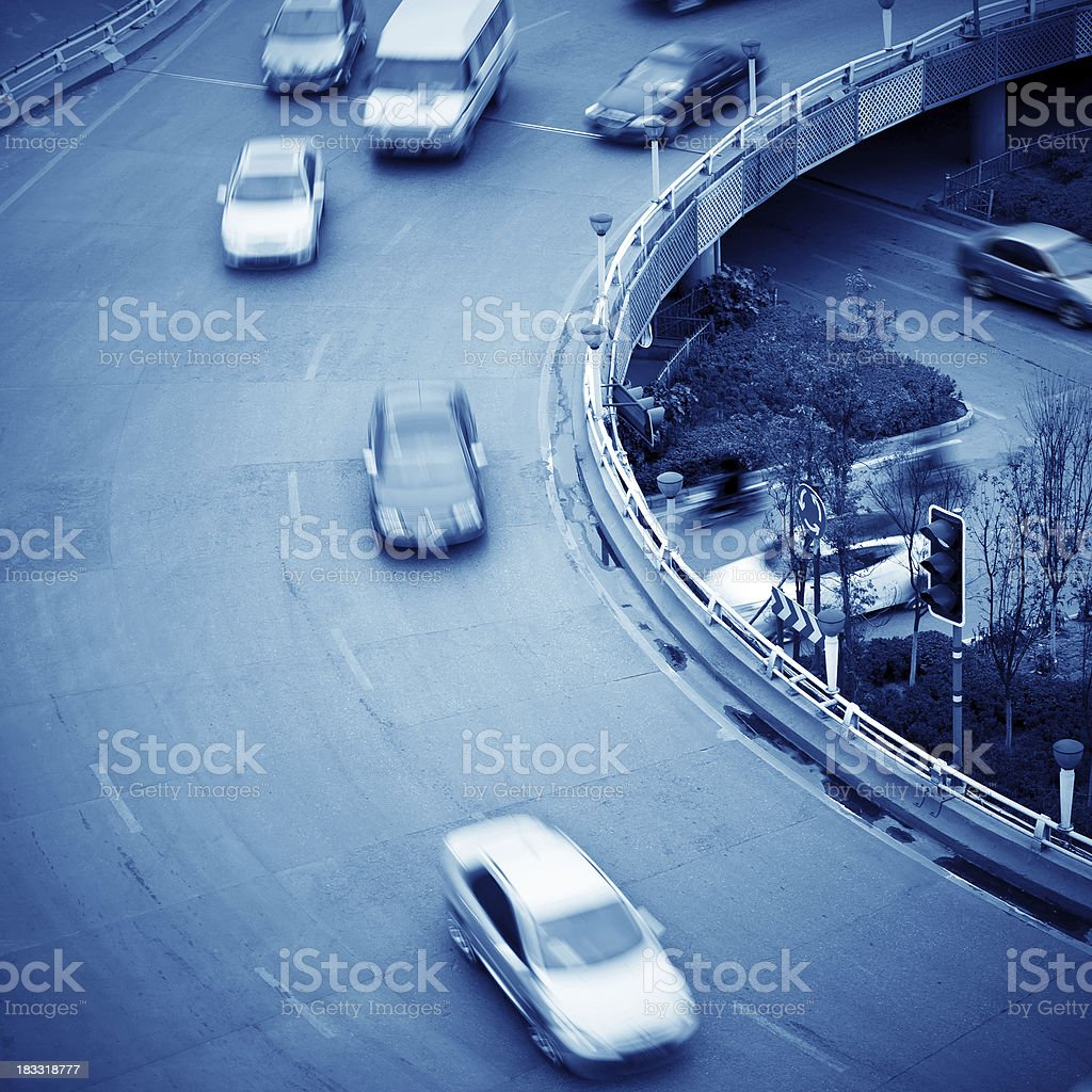 Viaduct and car royalty-free stock photo