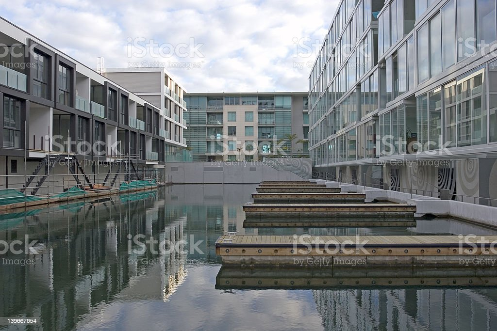 Viaduct Apartments royalty-free stock photo