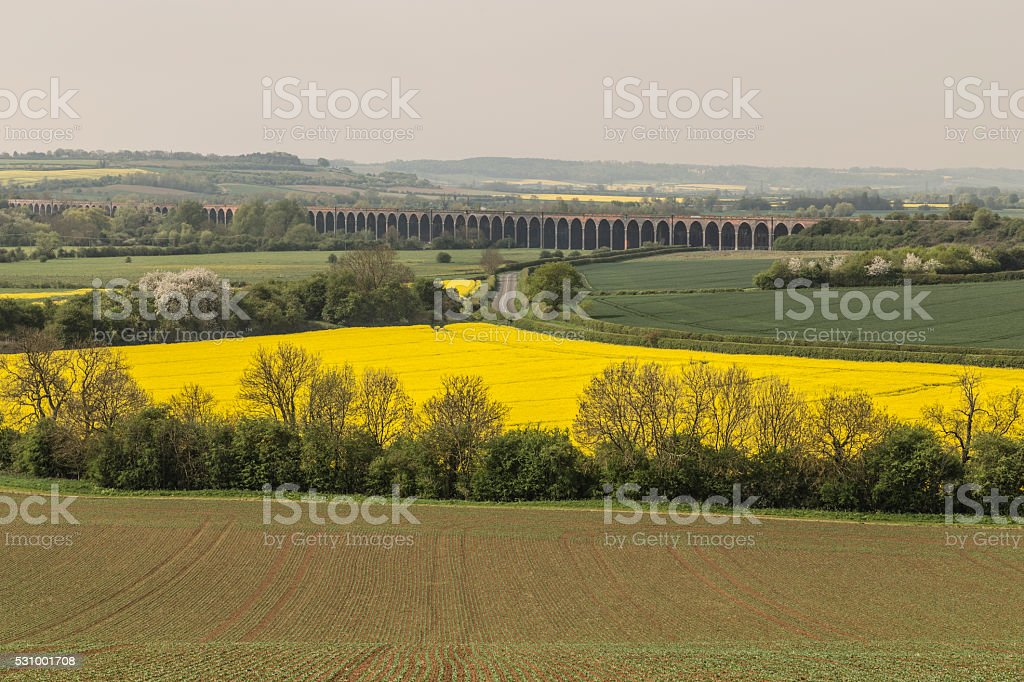 Viaduct At Harringworth stock photo