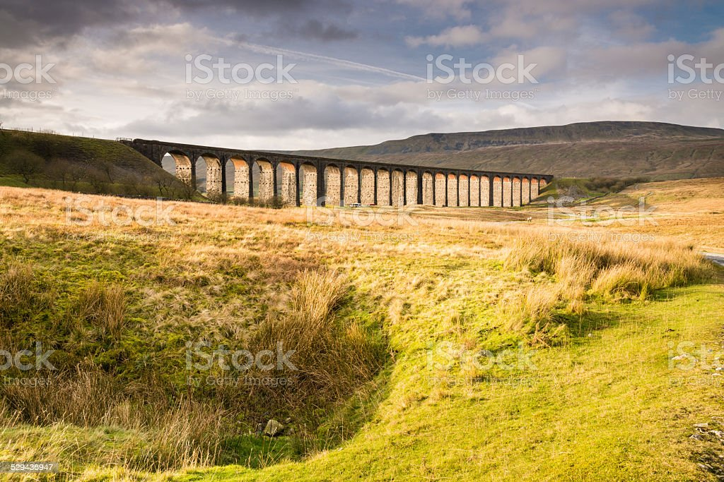 Viaduct at Ribblehead stock photo