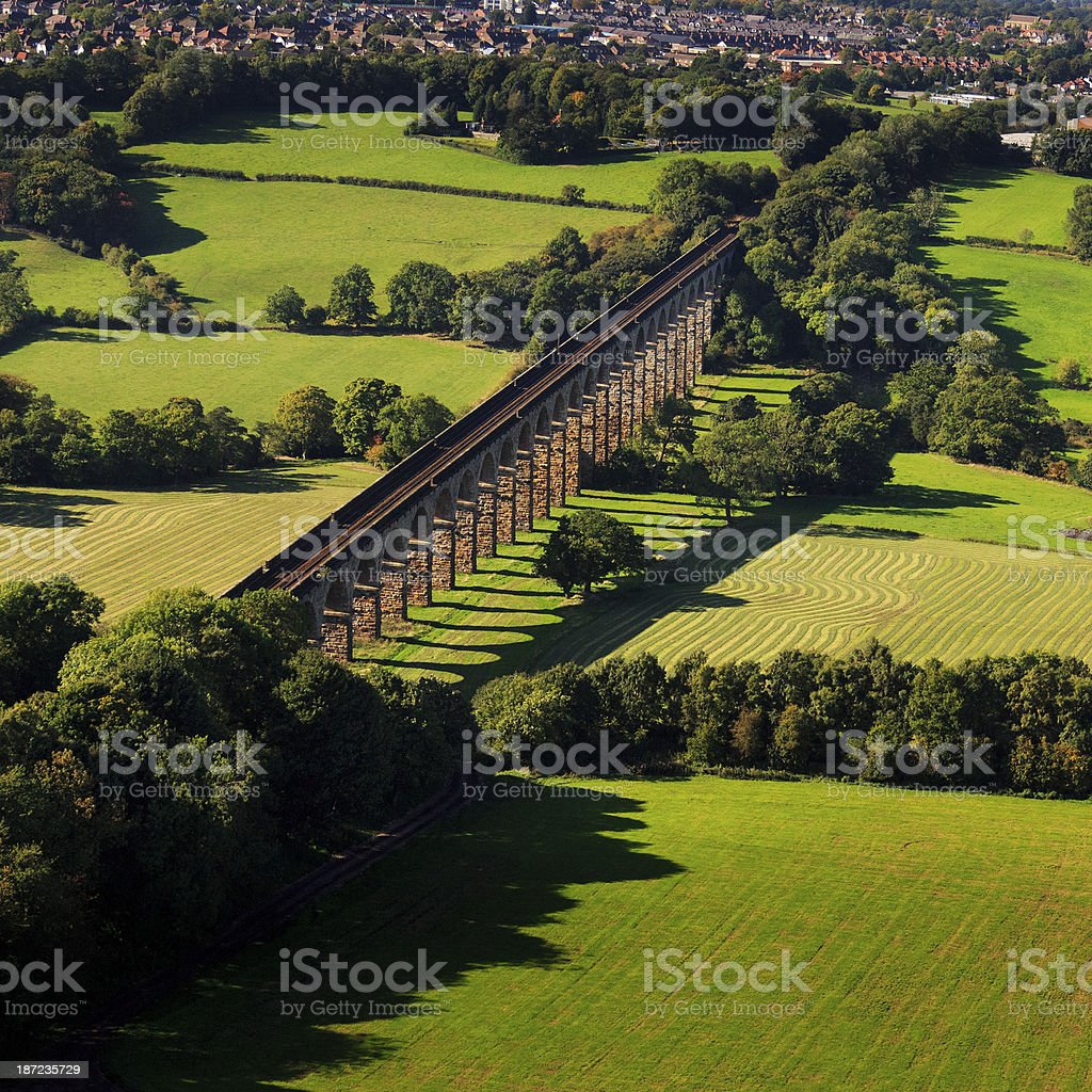 Viaduct from above stock photo