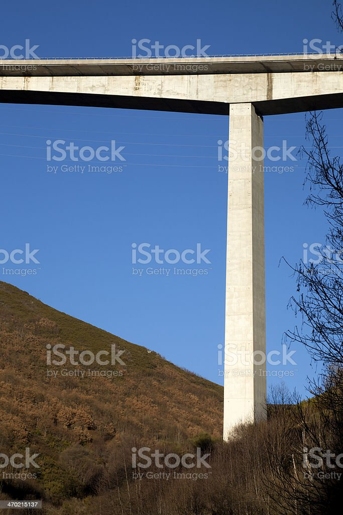 Viaduct from below royalty-free stock photo