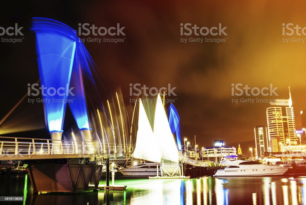 Viaduct harbour royalty-free stock photo