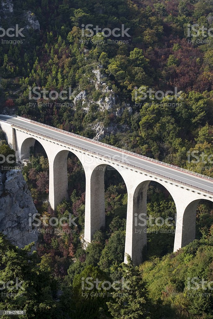 Viaduct in Alps royalty-free stock photo