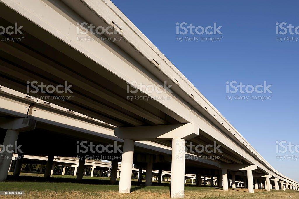 Viaduct Interstate Highway stock photo
