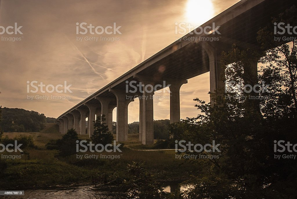I-80 Viaduct over the Cuyahoga River stock photo