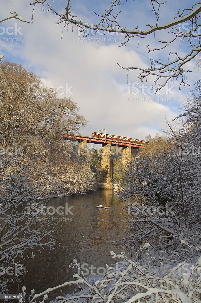Viaduct over the River Clyde, Motherwell stock photo