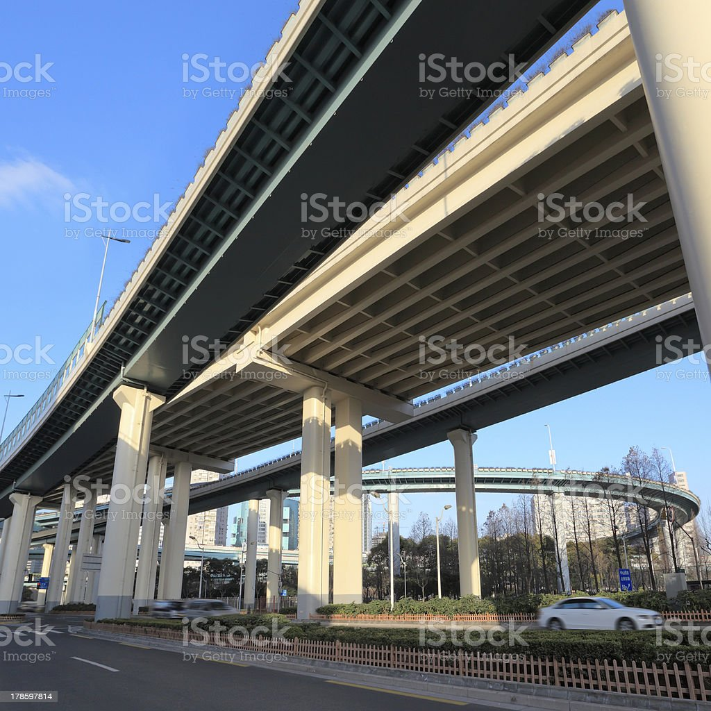 viaduct traffic background royalty-free stock photo